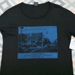 Vintage nwt OBEY Second Ave Austin Tee T-shirt